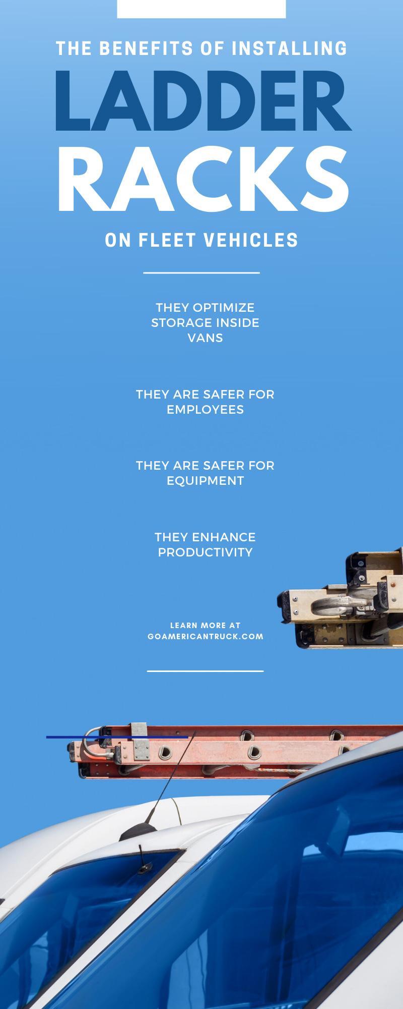 The Benefits of Installing Ladder Racks on Fleet Vehicles